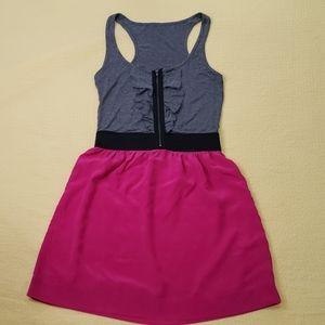Grey Pink Summer Dress